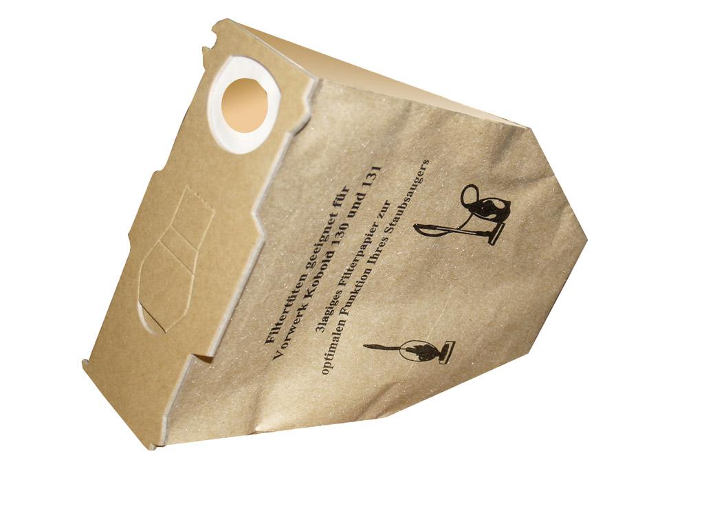 20 Filter Staubsaugerbeutel Filtertüten geeignet für Vorwerk Kobold 130 131