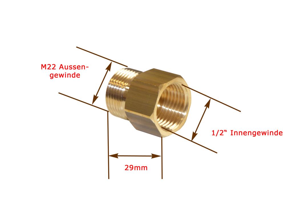 Adapter Gewindenippel M200 AG   200/20