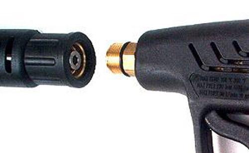 HD-Pistole für Kärcher Hochdruckreiniger,2 x M22 Aussengewinde Hochdruckpistole